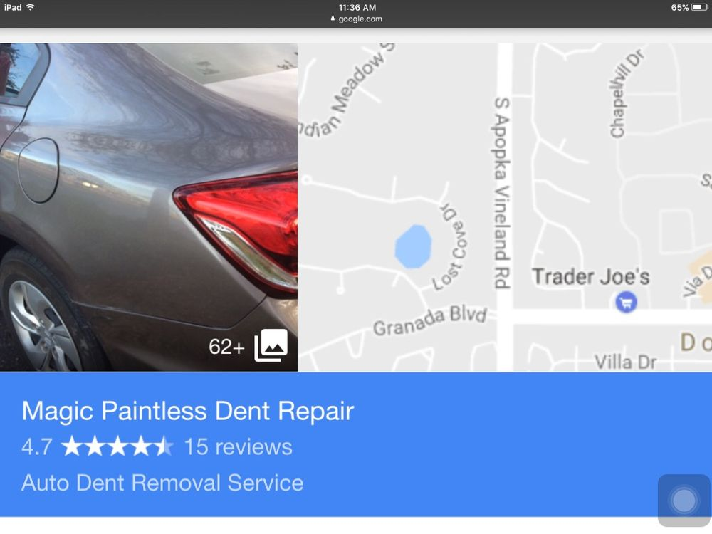 Magic Paintless Dent Repair: 8004 Sandpoint Blvd, Orlando, FL