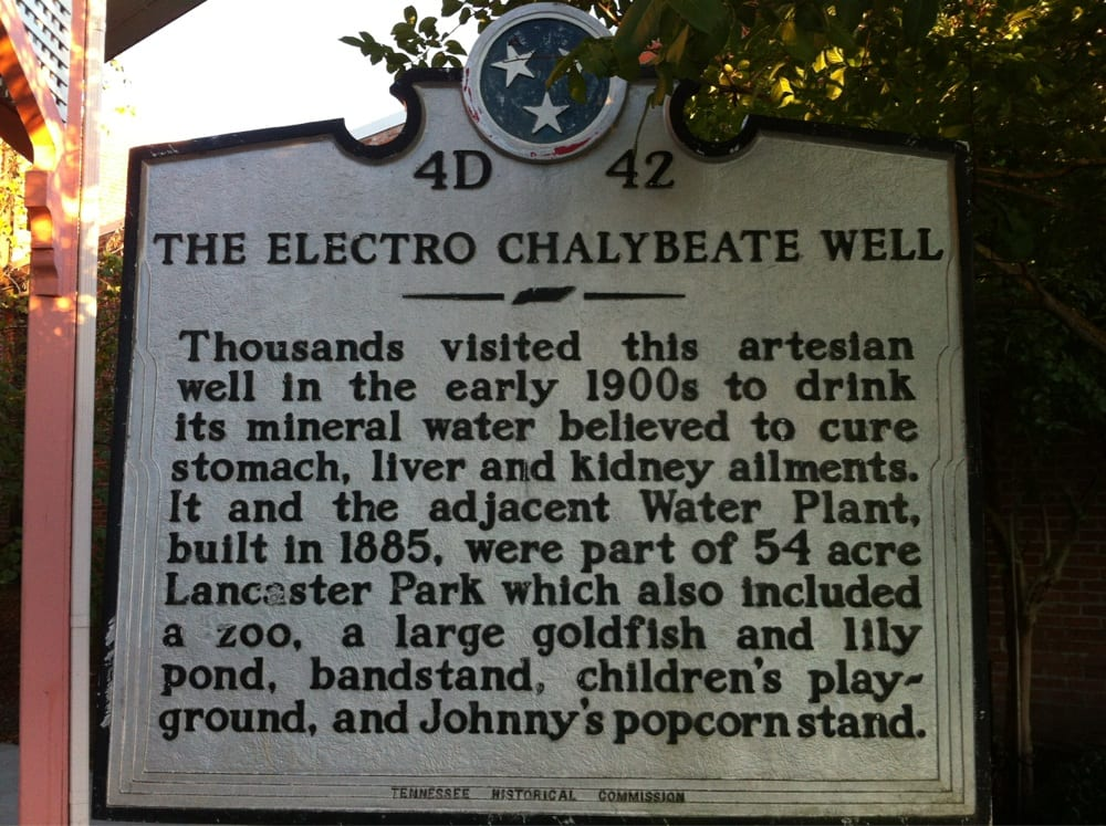 The Electro Chaleybeate Well: 600-698 S Royal St, Jackson, TN