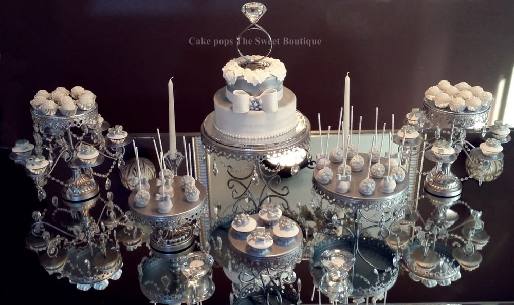 Silver And White Cake Pops