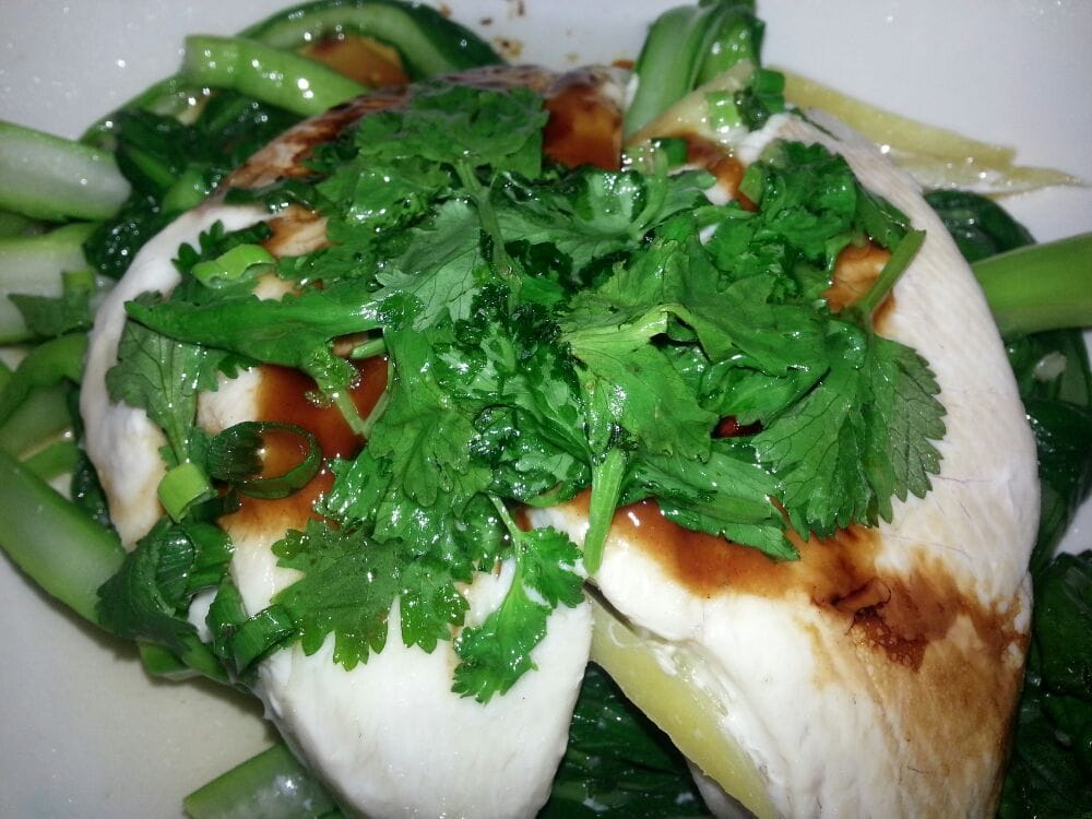 Steamed seabass w choi sum ginger yelp for Uncle s fish market and grill