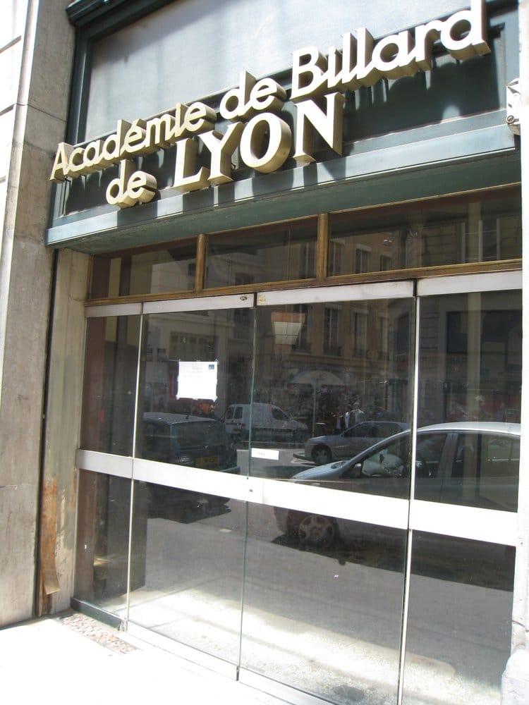 Acad mie de billard de lyon 15 avis salles de billard for 9 rue du jardin des plantes 69001 lyon