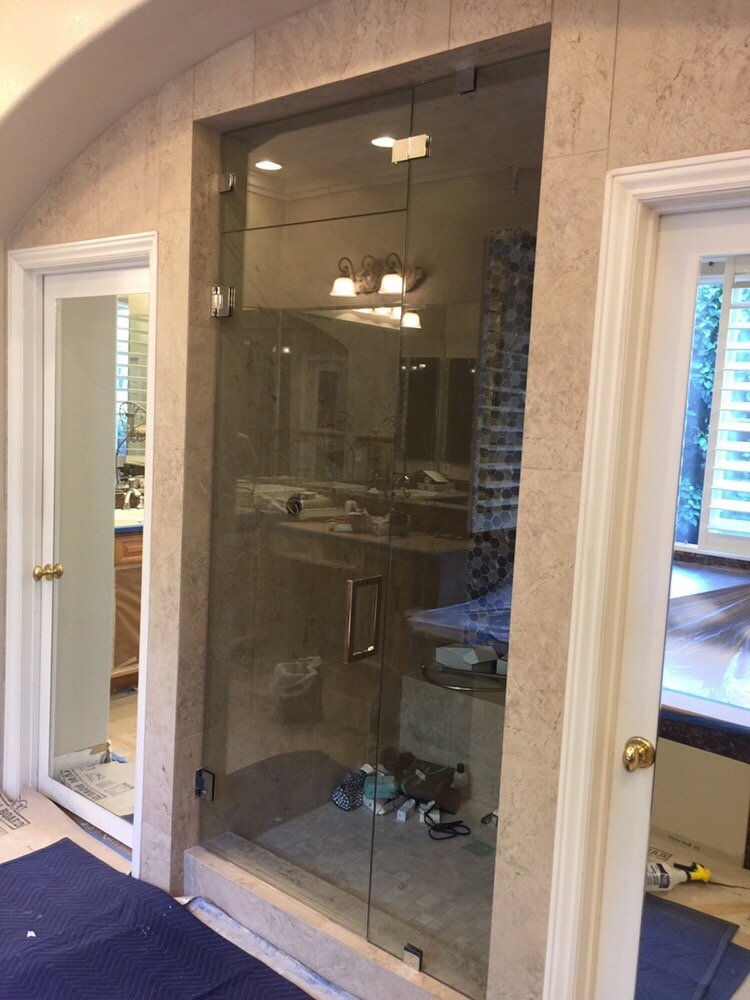 Steam shower enclosure- active transom!!! - Yelp