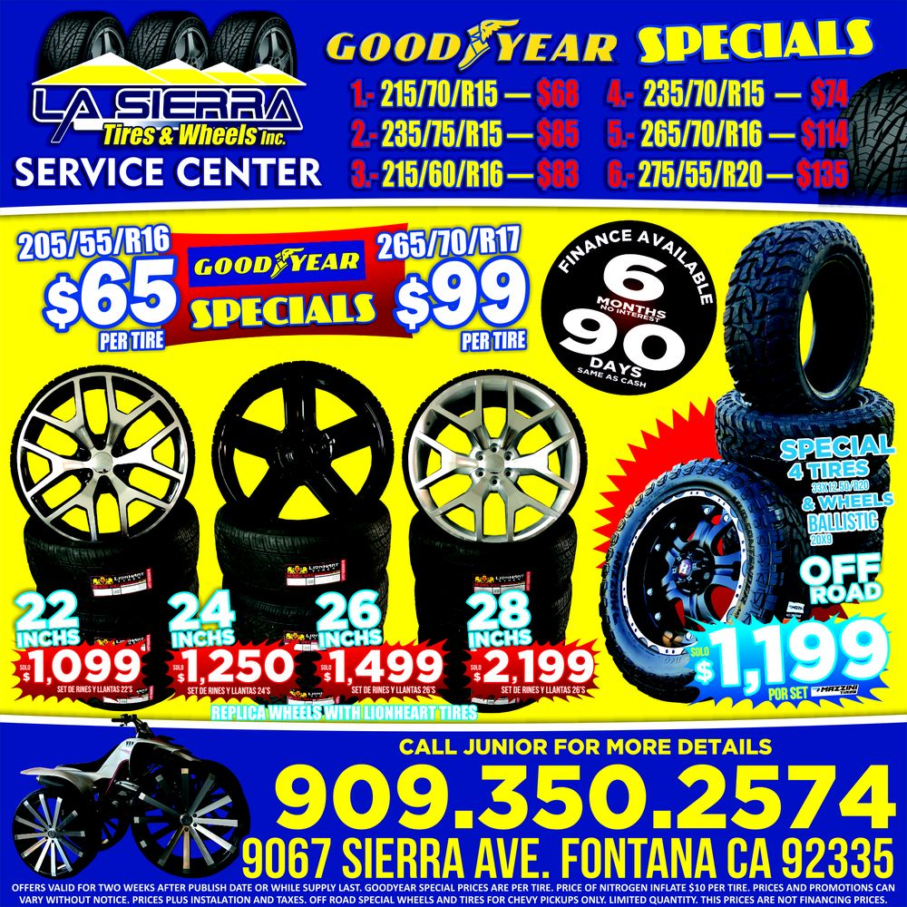 La Sierra Tires >> La Sierra Tires Wheels 9439 Sierra Ave Fontana Ca