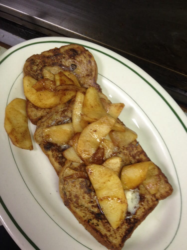 Caramel Apple Bread French Toast W Apples And Pecans Yelp