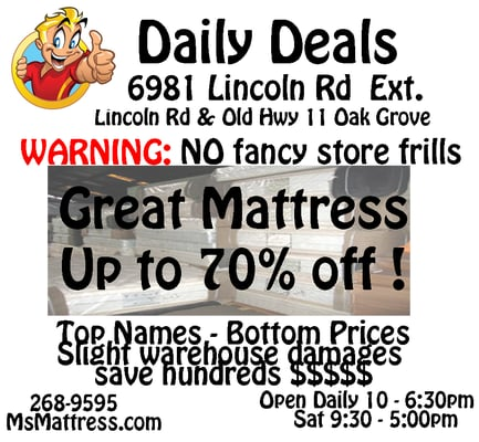Daily Deals Magasin De Meuble 6981 Lincoln Rd Ext Hattiesburg Ms Tats Unis Num Ro De