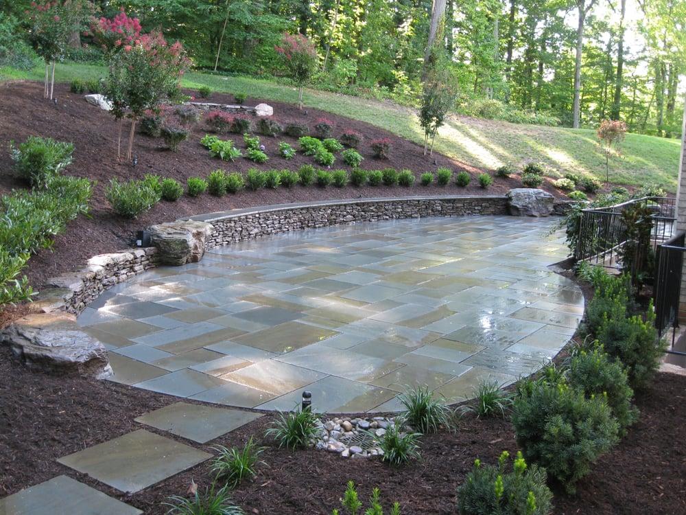 Custom Stonescaping: 2755 Greenway Blvd, Falls Church, VA