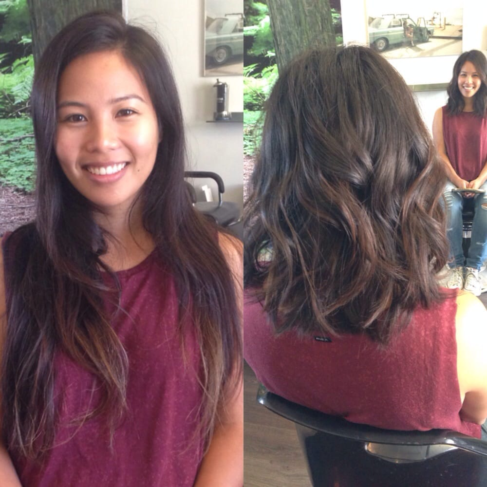 Typical Long Asian Hair To A Lob With Baby Highlights Yelp