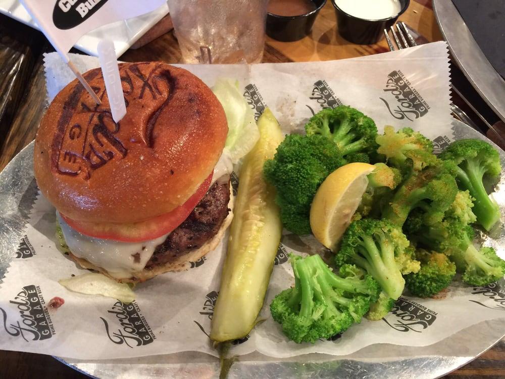 Custom Medium Burger With Swiss Lettuce Tomato Onion And A