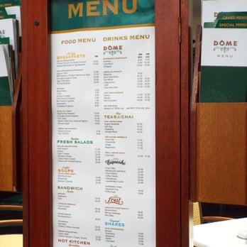 Dome Cafe Singapore Menu Prices