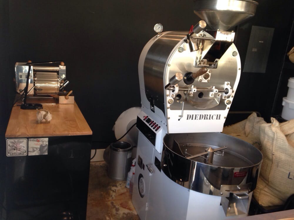 In house roaster (Diedrich) and a sample roaster - Yelp