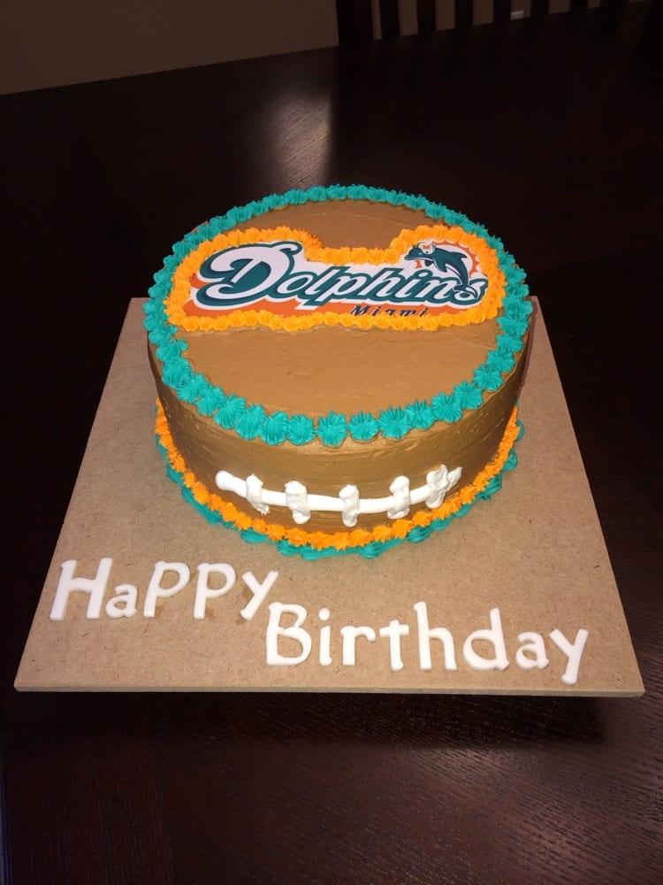 Miami Dolphins Football Cake Yelp