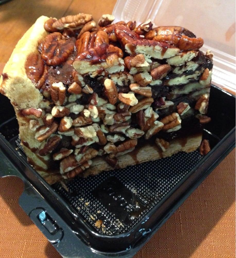 Pecan pie slice to go. Gargantuan! Delicious, too. - Yelp