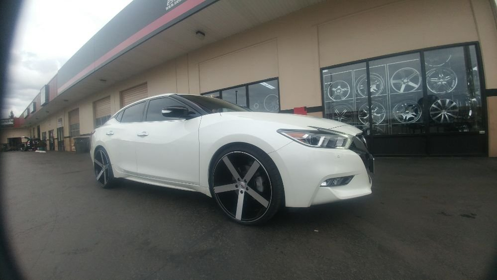 2018 nissan maxima with 22 inch rims and tires! yelp