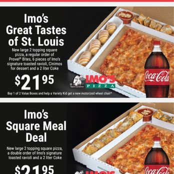 photo regarding Imos Coupons Printable called Imos pizza discount codes st. louis mo : Ideal push trailer specials
