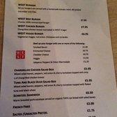 Photo Of West On The Green Glasgow United Kingdom Bar Snack Menu