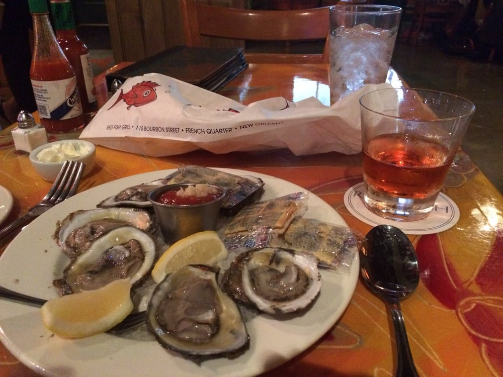 Oysters on the half shell and the sazerac yelp for Red fish grill new orleans