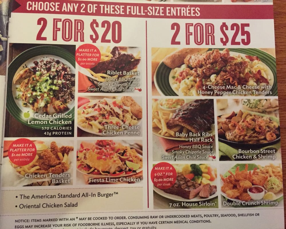 "their ""2 for $20"" and ""2 for $25"" menu as of june 4th, 2015. - yelp"