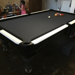 Route Billiards Pool Table Service Photos Pool Billiards - Pool table refelting houston