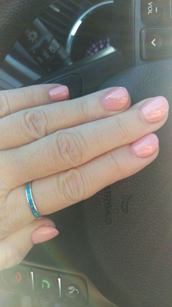 Acrylics with Gel polish by JoJo. Love love LOVE my nails!!! - Yelp