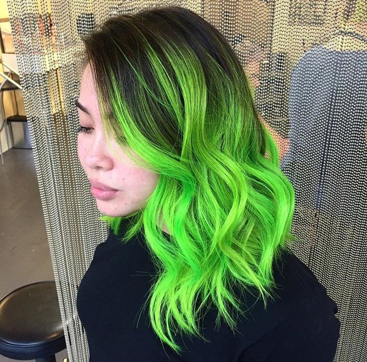 Neon Green Ombr 233 With Casey Featured On Buzzfeed S 17 Of