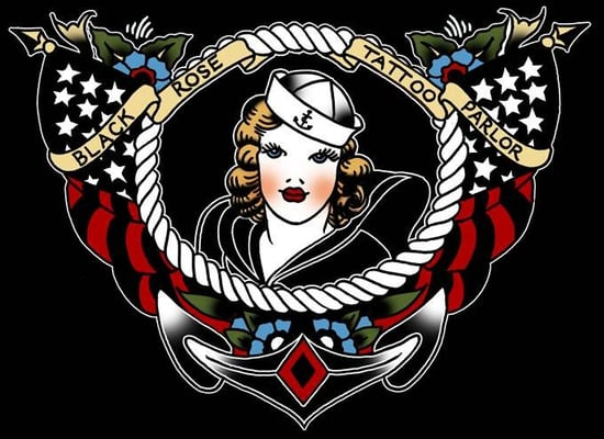 Black rose tattoo parlor st ngt tatueringar 2711 for Rose tattoo parlor