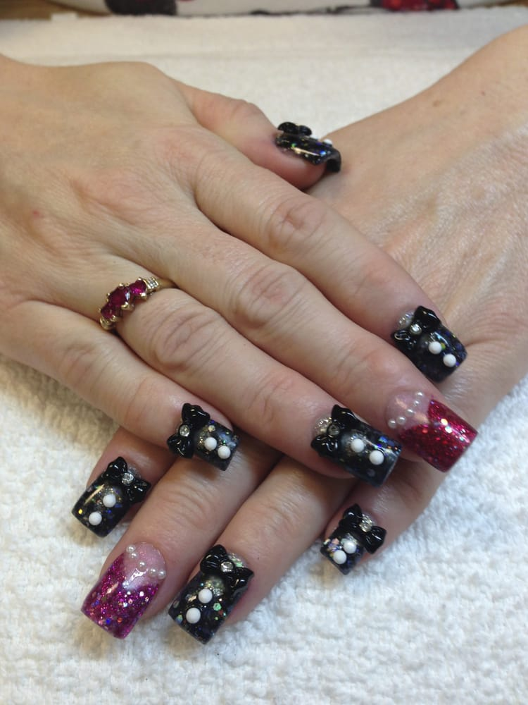 3d tuxedo nails las vegas yelp for A cut above salon las vegas