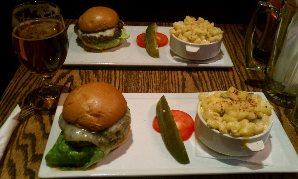 Brew Burger with the Lobster Mac and Cheese. The mac and cheese was fucking delicious! - Yelp