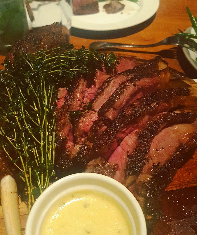 Halal Creekstone farms 28-day aged tomahawk steak, and it