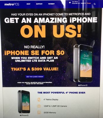 Metro PCS 5849 Hamilton Ave Cincinnati, OH Cellular Telephones