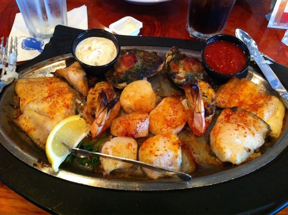 Neptune platter with flounder yelp for Lynnhaven fish house