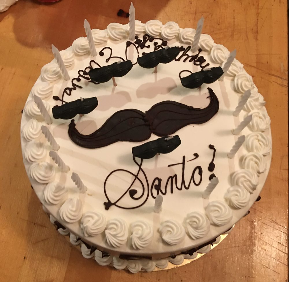 A Beautifully Made Birthday Mustache Mocha Custard Cake The Cake