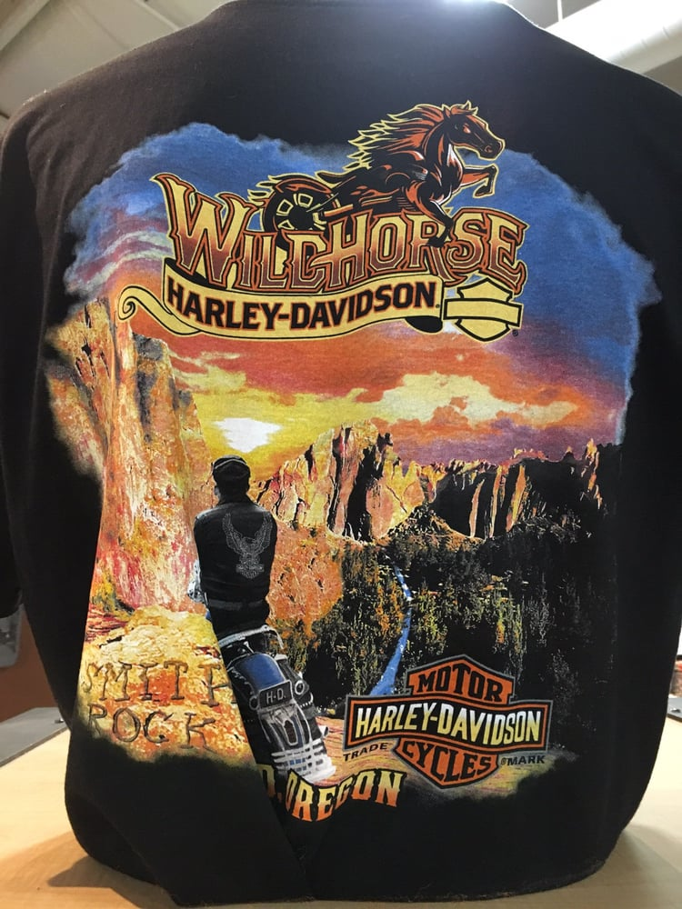 here are some of the awesome t-shirt backs they have @wildhorse