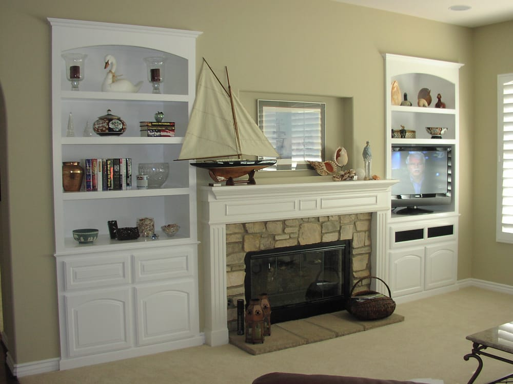 Photo Of Woodwork Creations   Perris, CA, United States. White Cabinets  Built Into