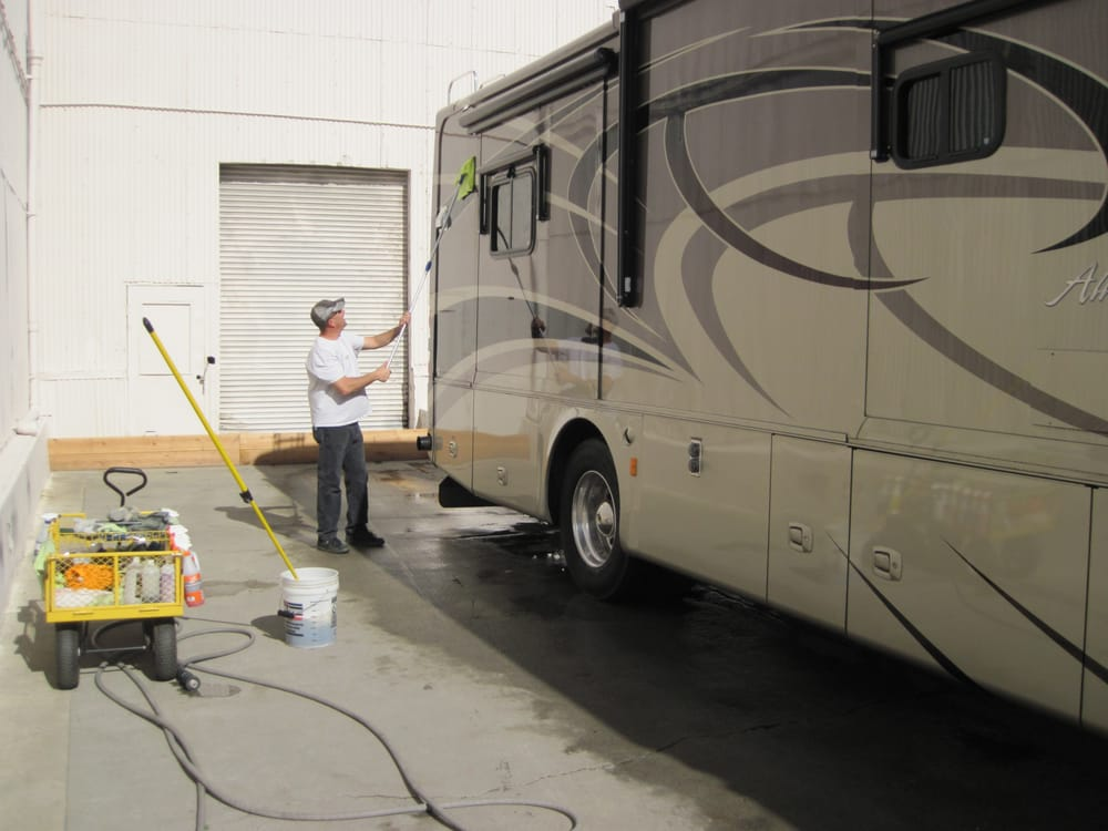 Carefully Washing A Big Rig Rv Yelp
