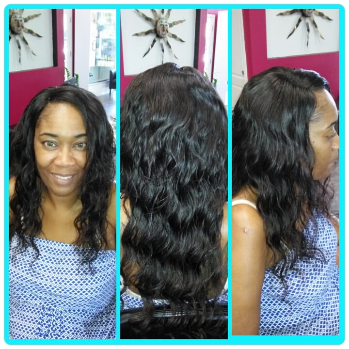 Full 16 Inch Sew In Weavece Closure Was Installed For A