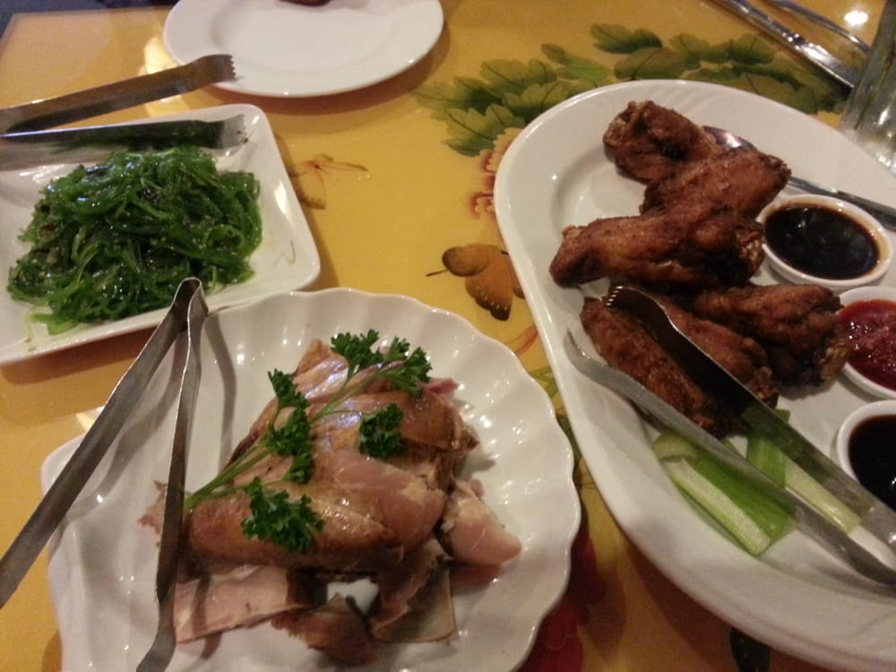 ... United States. Seaweed salad, tea smoked chicken and Yao chicken wing