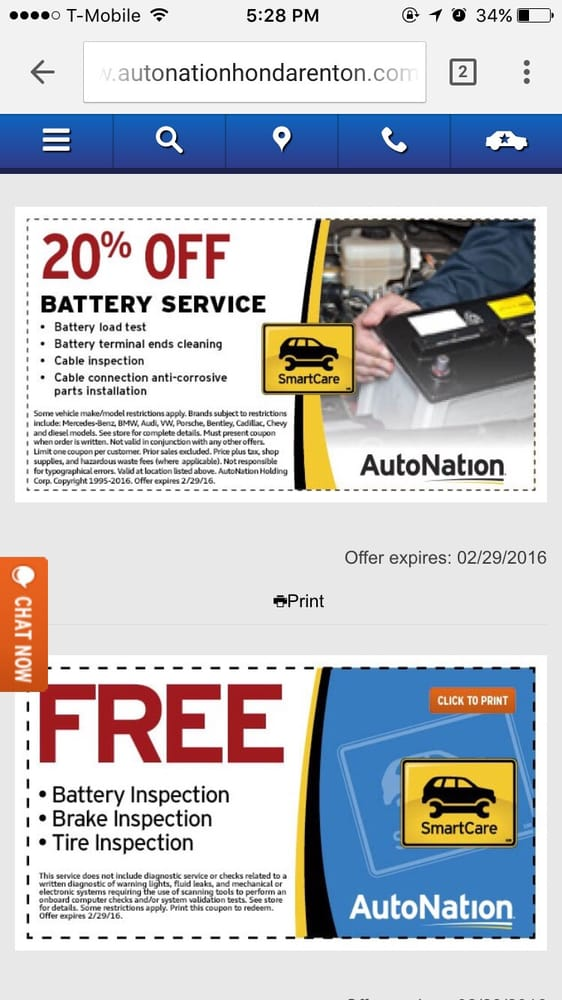 "Autonation Honda Service Coupons >> Talk about the ridiculous coupons they ""offer"". If it's ..."