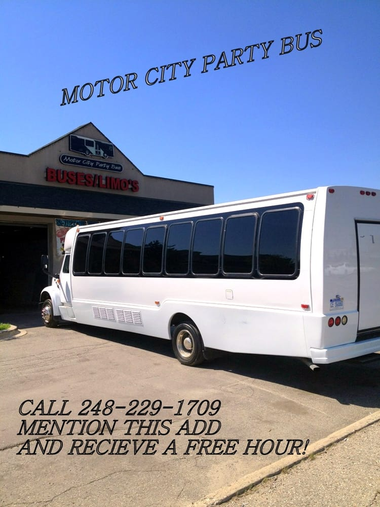 motor city party bus limousine 10671 highland rd