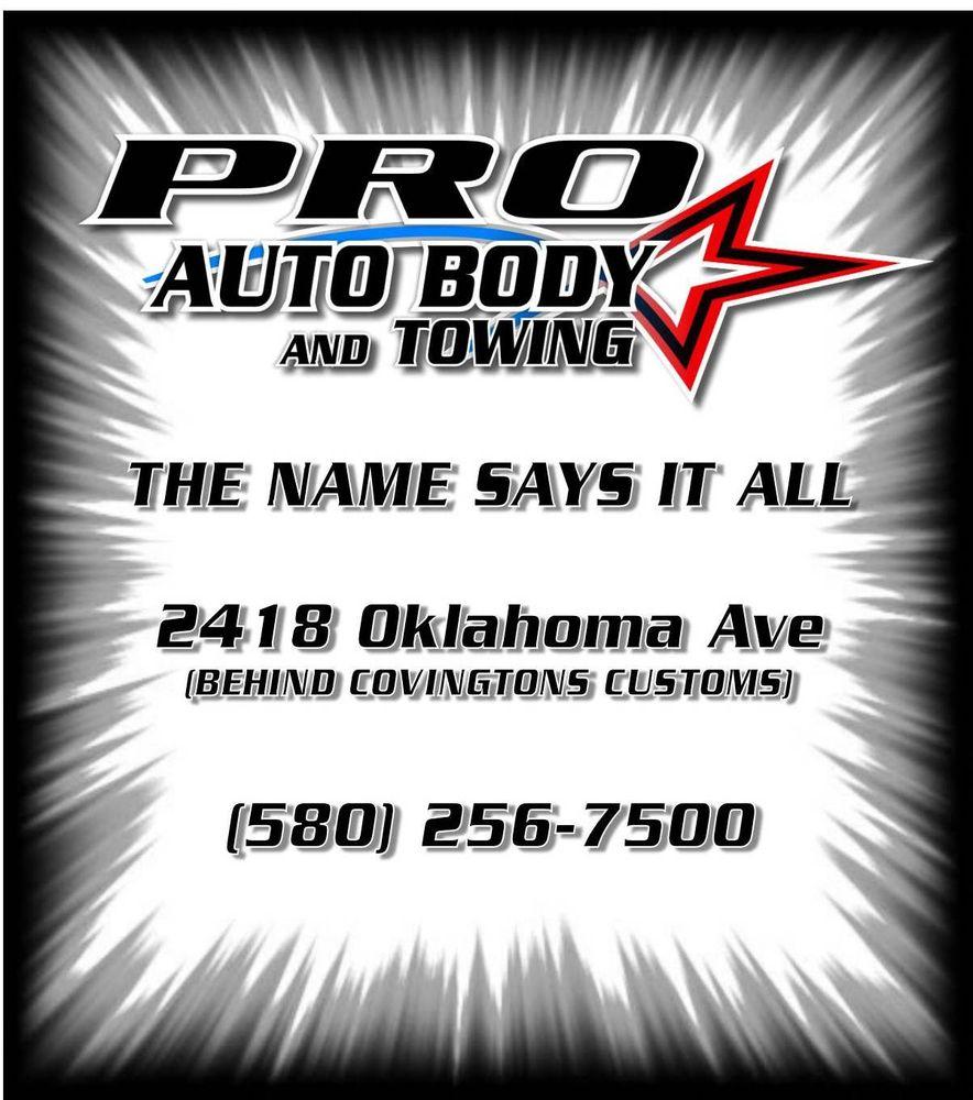 Pro Auto Body & Towing: 2418 Oklahoma Ave, Woodward, OK