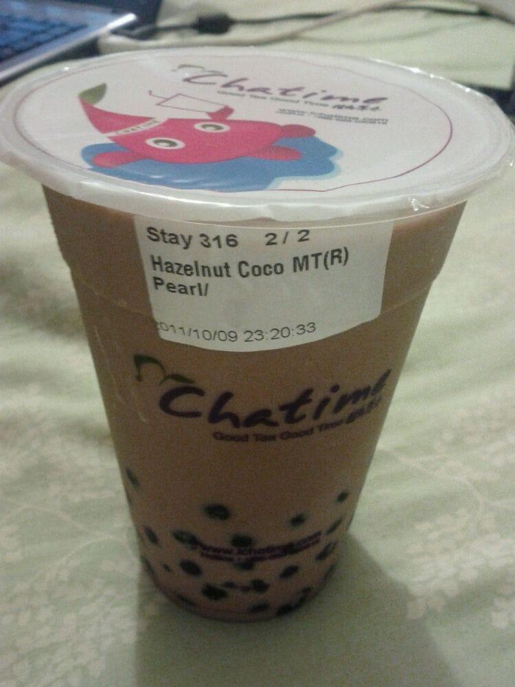 Hazelnut chocolate milk tea with tapioca - Yelp