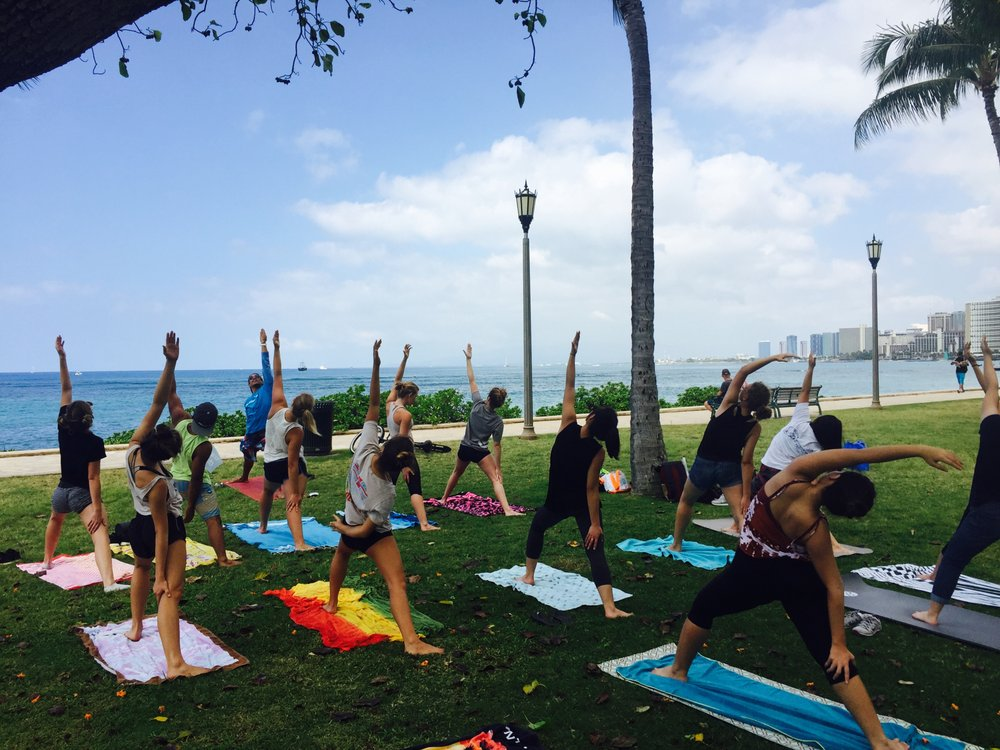 Photo Of Yoga Love Mana Honolulu Hi United States Beach Waikiki