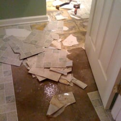 Photo Of Lawrenceville Fire, Flood U0026 Water Damage Repair   Lawrenceville,  GA, United. Bathroom Floor Water Damage