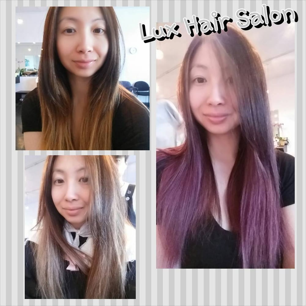 Top left before pic with my brass bottom left after for Lux hair salon