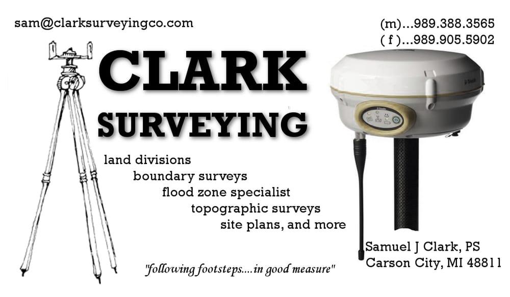 Clark Surveying Co: 420 Miner St, Carson City, MI