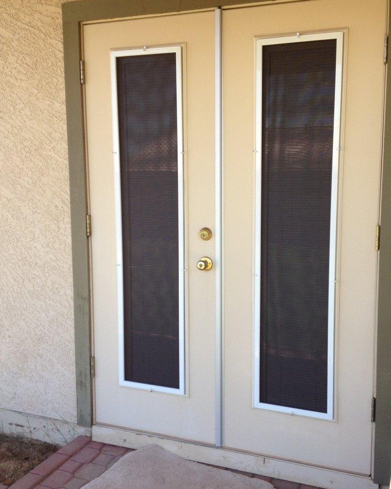 Solar Sun Screen Door Caps For Outswing Patio Doors Solarsunscreens