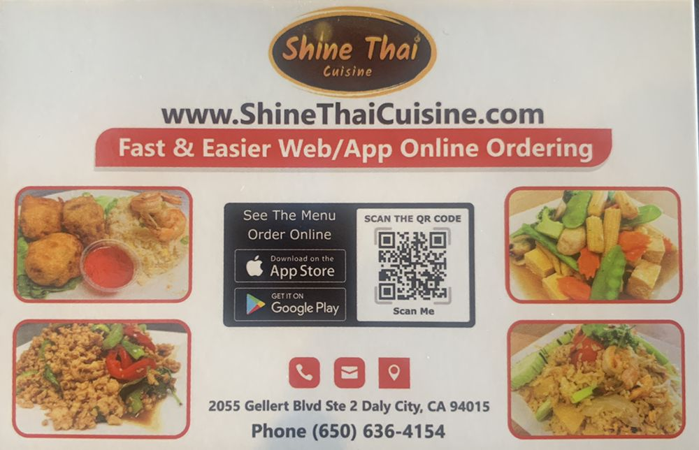 Shine Thai Cuisine: 2055 Gellert Blvd, Daly City, CA
