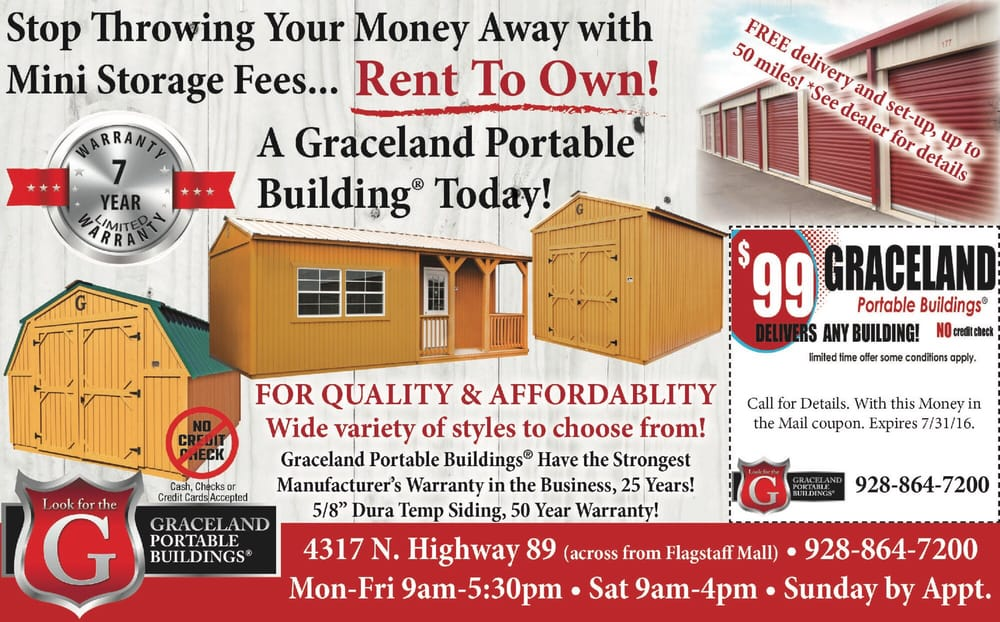 Nice AZ Buildings 2 Go   Graceland Portable Buildings Of Flagstaff   Get Quote    Building Supplies   4317 Hwy 89, Flagstaff, AZ   Phone Number   Yelp