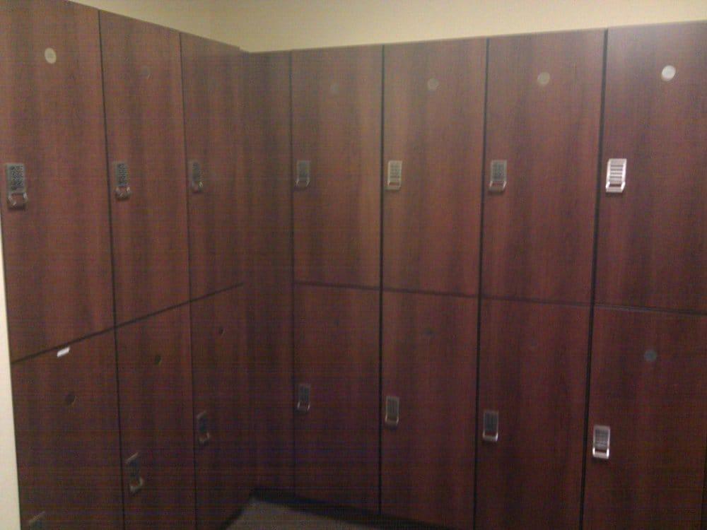 nice wood lockers. -