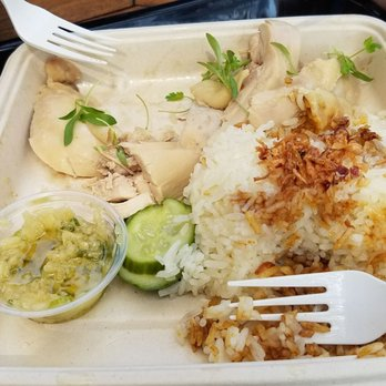 Photo Of Side Chick Arcadia Ca United States Hainanese Chicken Rice With
