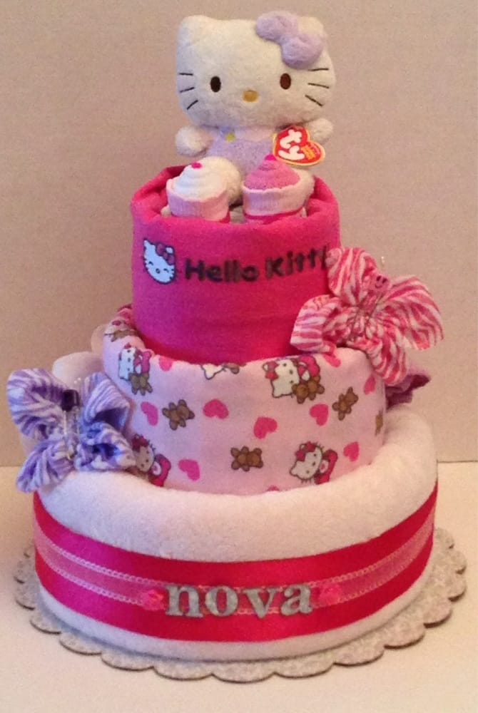 Personalized Hello Kitty 3layer Diaper Cake Yelp